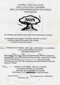 Minuta di comunicato dei Giovani Verdi - Lazio