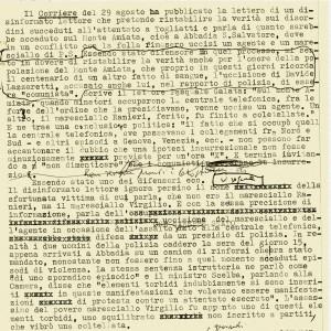Brano di Quei giorni sull'Amiata, in «Corriere della sera», 1978