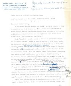 Minuta di lettera di L. Basso